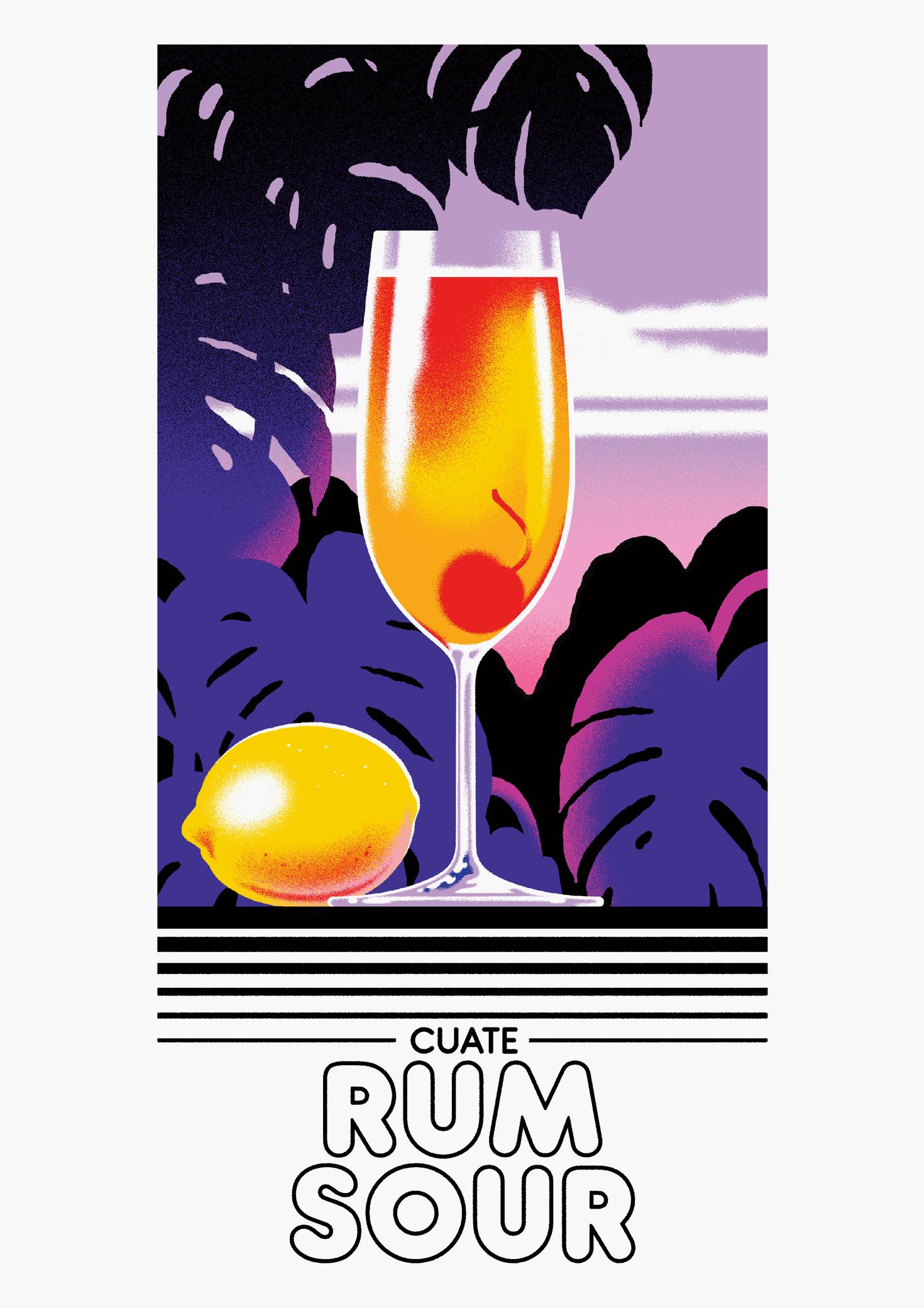 Cuate Rum Sour